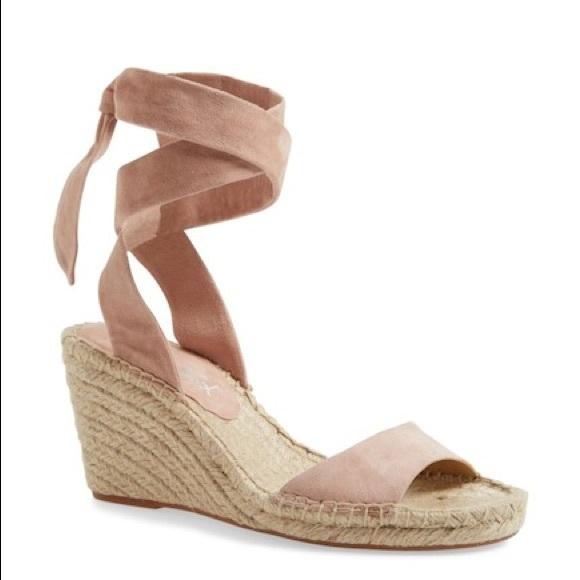 3300c214425 Splendid Joelle Ankle Tie Espadrille Wedge Sandal NWT